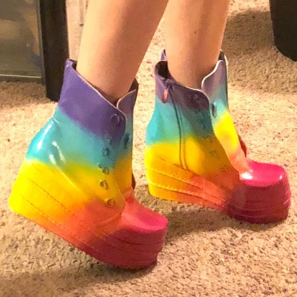 cbfd1bc5ed7 Rainbow platform boots Gogo rave festival yru. M 5afb15e79d20f08fde1ee37e